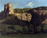 gustave courbet landscape bald rock in the valley of ornans painting 32761