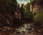 gustave courbet landscape near puit noir near ornans painting 32763
