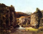 gustave courbet landscape the source among the rocks of the doubs paintings