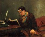gustave courbet portrait of baudelaire painting 32774