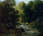 gustave courbet river landscape painting 32788