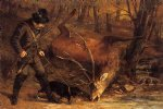 gustave courbet the german huntsman painting