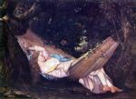 gustave courbet the hammock painting