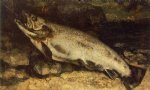 the trout by gustave courbet painting