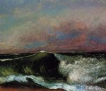 the wave 3 by gustave courbet painting