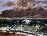 the wave by gustave courbet painting