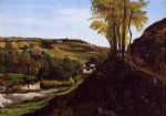 valley of ornans by gustave courbet painting