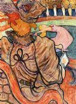 henri de toulouse lautrec at the nouveau cirque the dancer and five stuffed shirts painting
