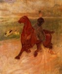 henri de toulouse lautrec horsewoman and dog painting