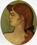 portrait paintings - portrait of a woman of the house on the rue d amboise by henri de toulouse lautrec