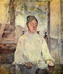 portrait paintings - portrait of comtesse adele by henri de toulouse lautrec