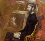 portrait paintings - portrait of georges by henri de toulouse lautrec