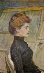 portrait paintings - portrait of helen detail by henri de toulouse lautrec