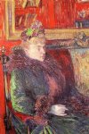 portrait paintings - portrait of madame de gortzikolff by henri de toulouse lautrec