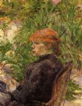 henri de toulouse lautrec red haired woman seated in the garden of m. forest art