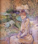 henri de toulouse lautrec woman in monsieur forest s garden art