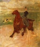 henri de toulouse lautrec woman rider and dog painting