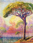 a pine tree by henri edmond cross painting