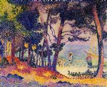 a pine wood provence by henri edmond cross painting