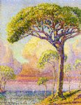 a pine by henri edmond cross painting