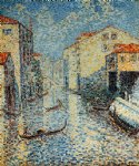 henri edmond cross a venetian canal painting