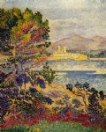 antibes morning by henri edmond cross painting
