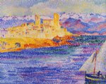 antibes by henri edmond cross painting