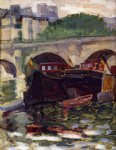 barges by henri edmond cross painting