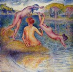 bathers ii by henri edmond cross painting