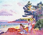 bathers iii by henri edmond cross painting