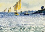 boats by henri edmond cross painting