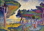 by the mediterranean by henri edmond cross painting