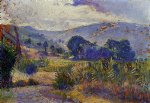 cabasson landscape study by henri edmond cross painting