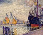 canal de la guidecca venice by henri edmond cross painting