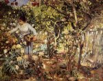 henri edmond cross corner of the garden in monaco painting