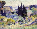 henri edmond cross cypress april painting