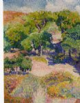 henri edmond cross cypresses painting