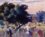 henri edmond cross femmes liant la vigne paintings