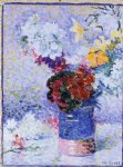 henri edmond cross flowers in a glass paintings
