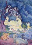 henri edmond cross goats painting