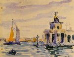 henri edmond cross la dogana painting
