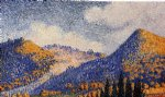 henri edmond cross landscape the little maresque mountains painting