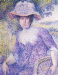 portrait paintings - portrait of madame cross by henri edmond cross