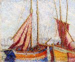 henri edmond cross sailboats painting
