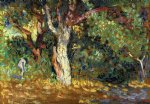 henri edmond cross study for in the woods with female nude painting