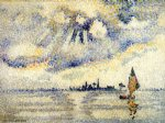 henri edmond cross sunset on the lagoon venice paintings