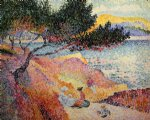 henri edmond cross the bay at cavaliere painting