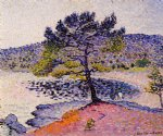 henri edmond cross the beach evening painting