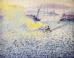 henri edmond cross toulon winter morning painting