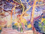 henri edmond cross under the pines painting